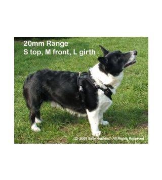 20mm S-M-L Perfect Fit Harness (62-72cm)