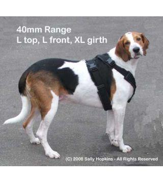 40mm L-L-XL Perfect Fit Harness (85-106cm)